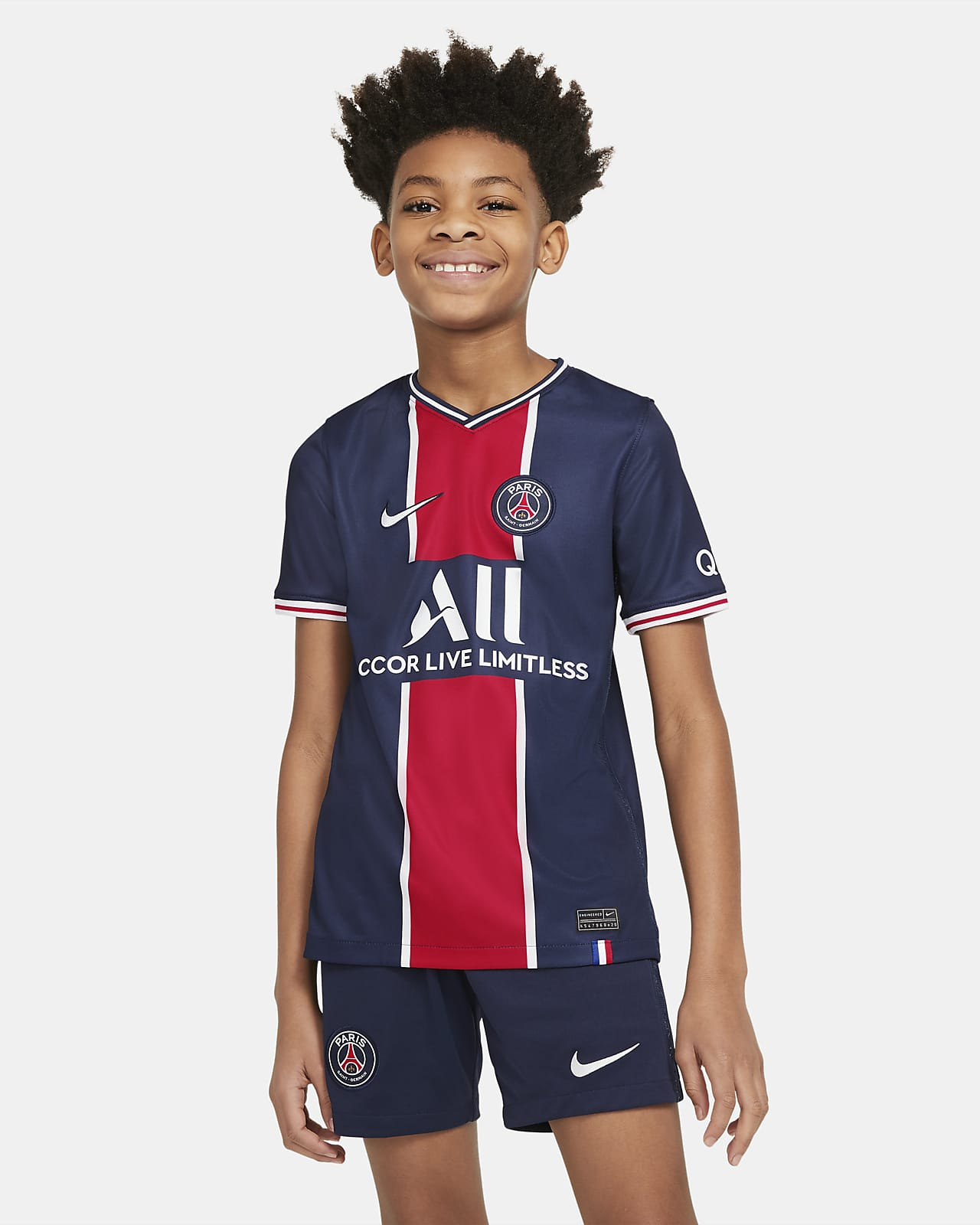 Maillot de football Paris Saint-Germain 2020/21 Stadium Domicile pour Enfant plus âgé