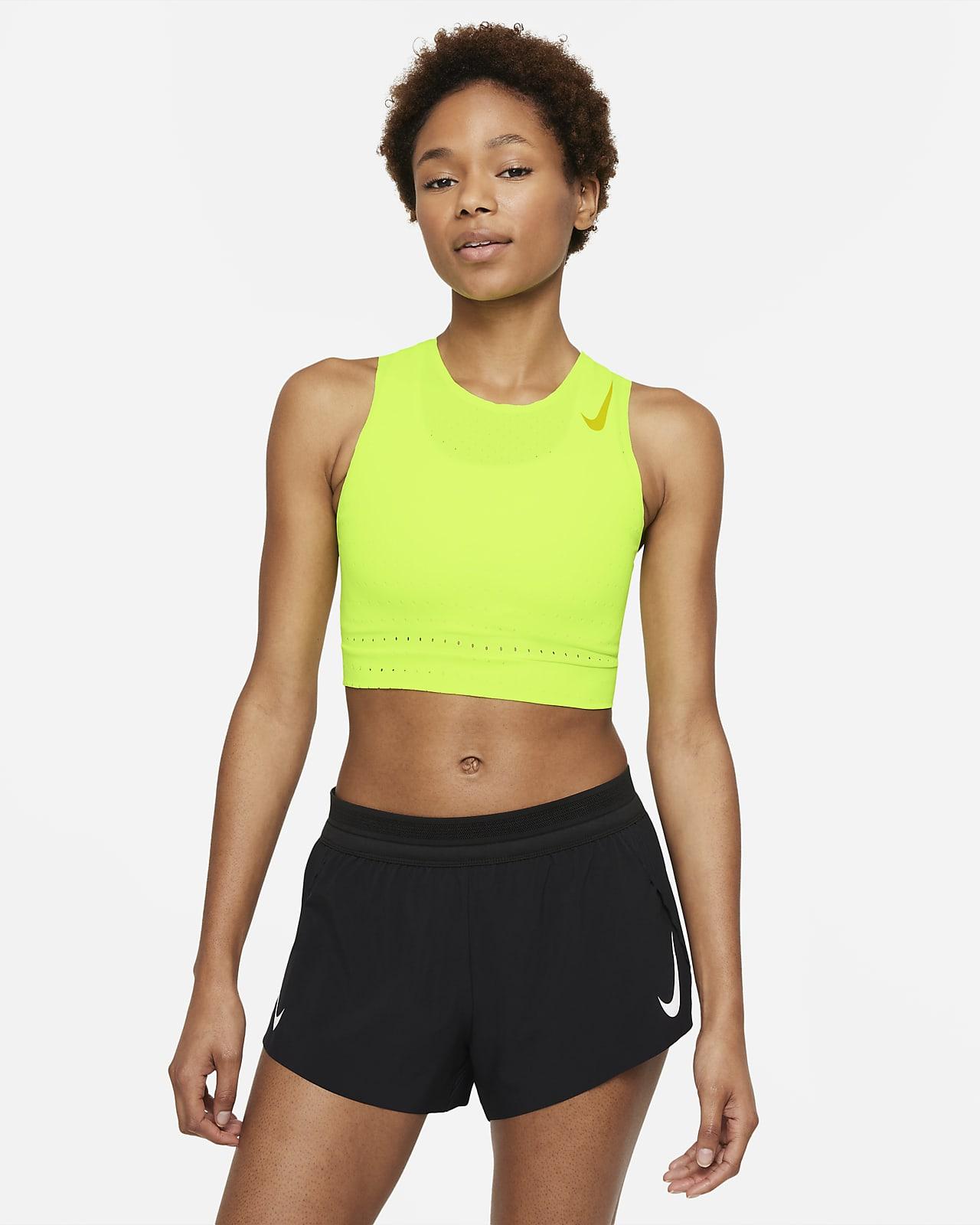 Γυναικεία φανέλα crop για τρέξιμο Nike AeroSwift