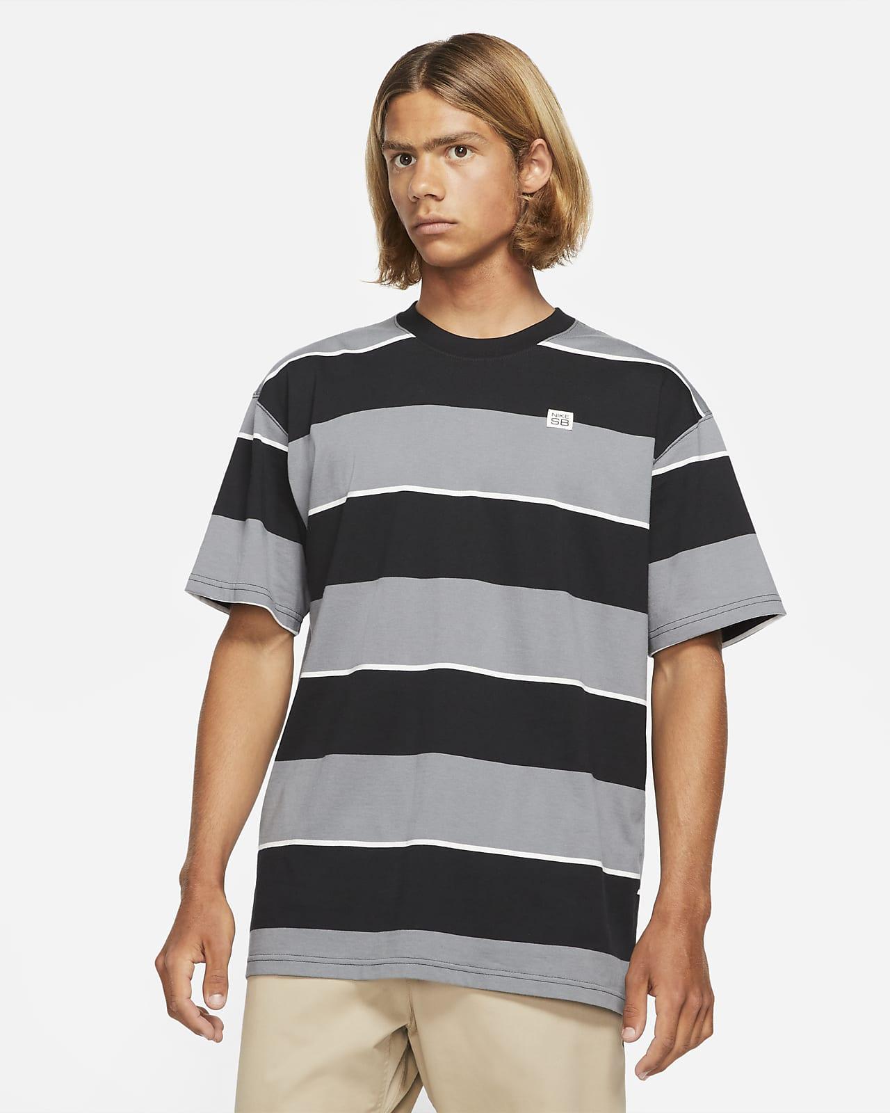 Playera de skateboarding con rayas para hombre Nike SB