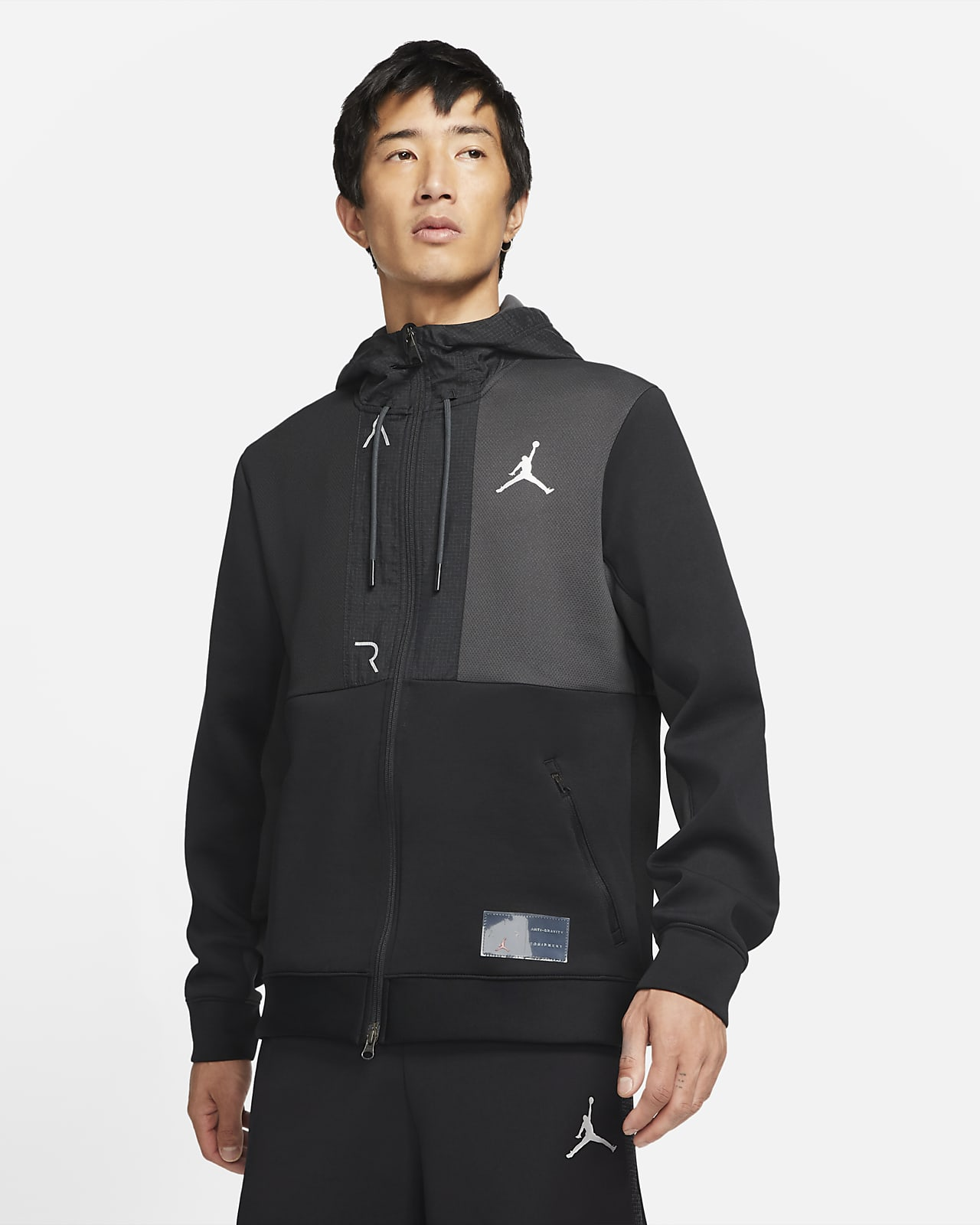Jordan Air Men's Fleece Full-Zip Hoodie
