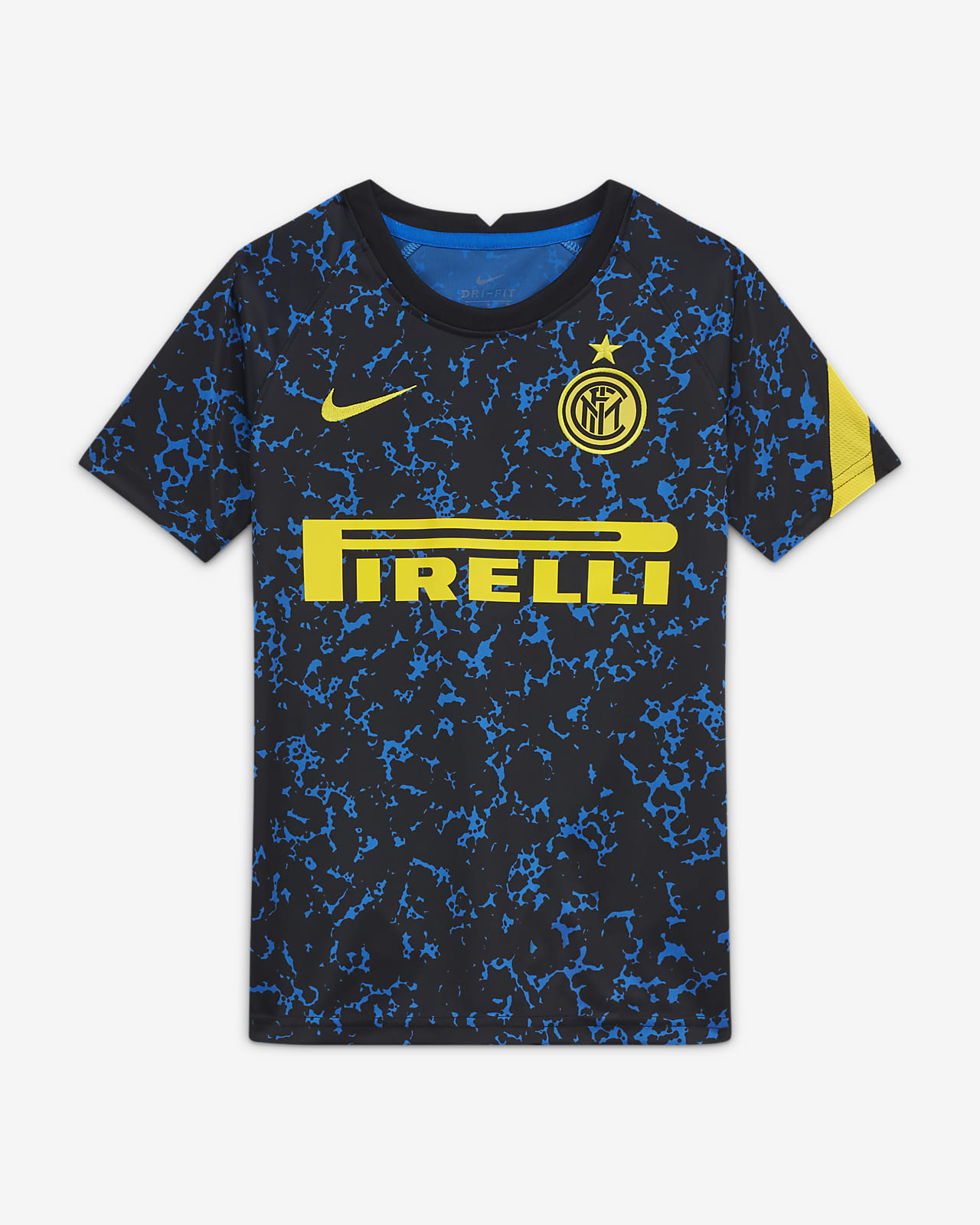 Prenda para la parte superior de fútbol de manga corta para niño talla grande Inter Milan
