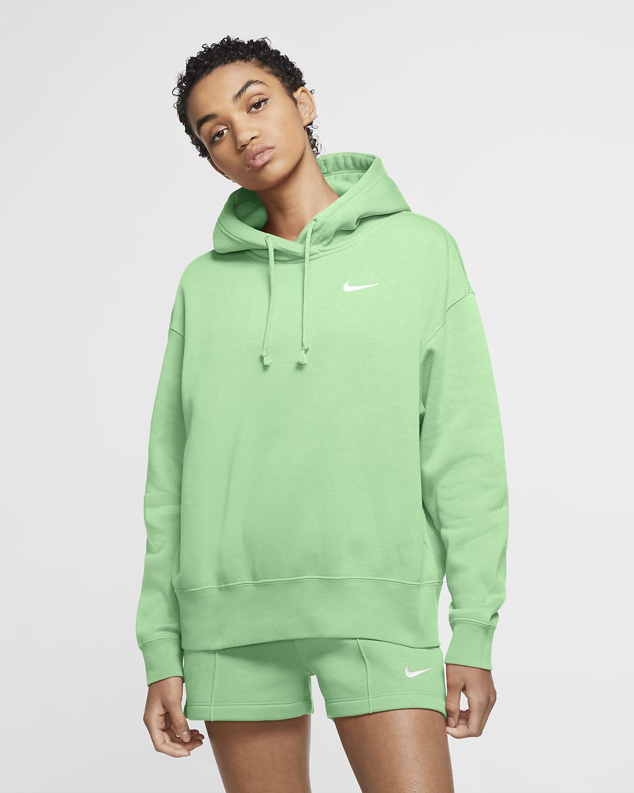 Γυναικεία φλις μπλούζα με κουκούλα Nike Sportswear