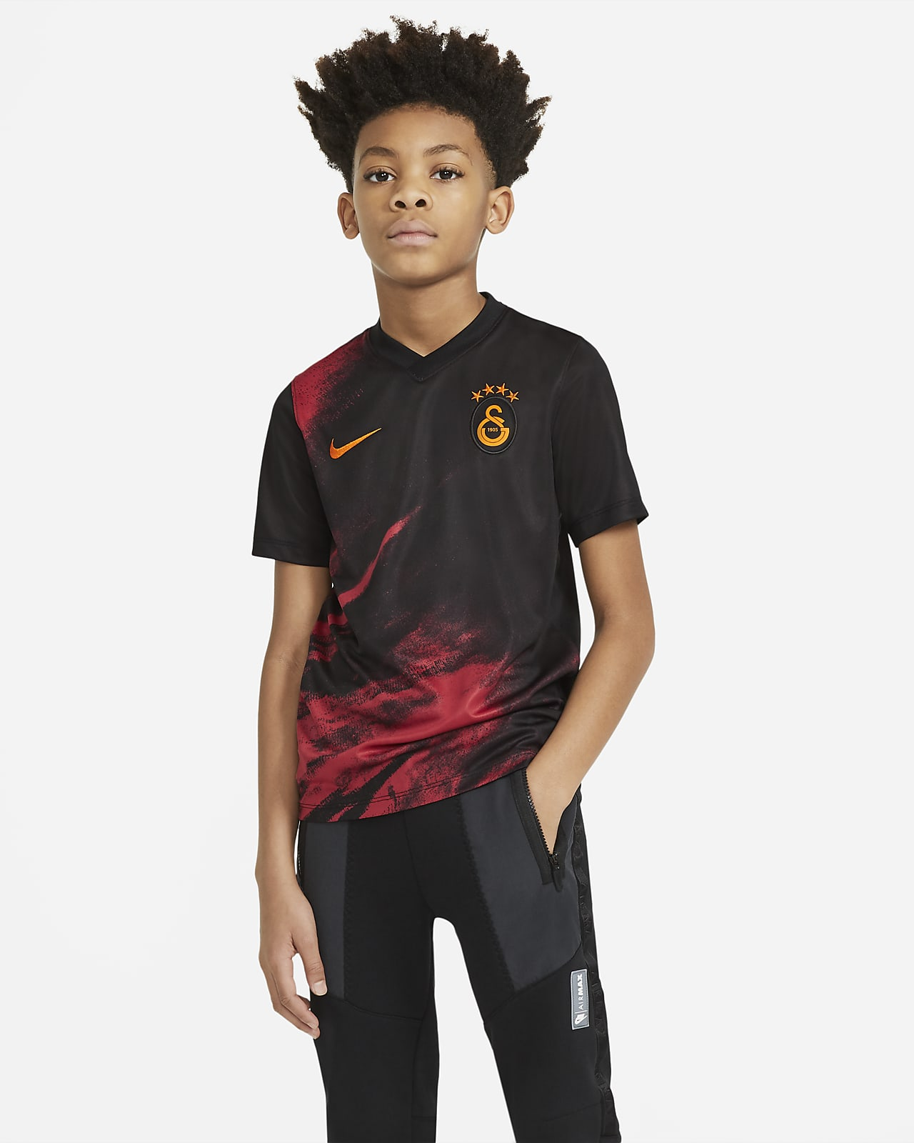Camiseta de fútbol de visitante para niños talla grande del Galatasaray 2020/2021