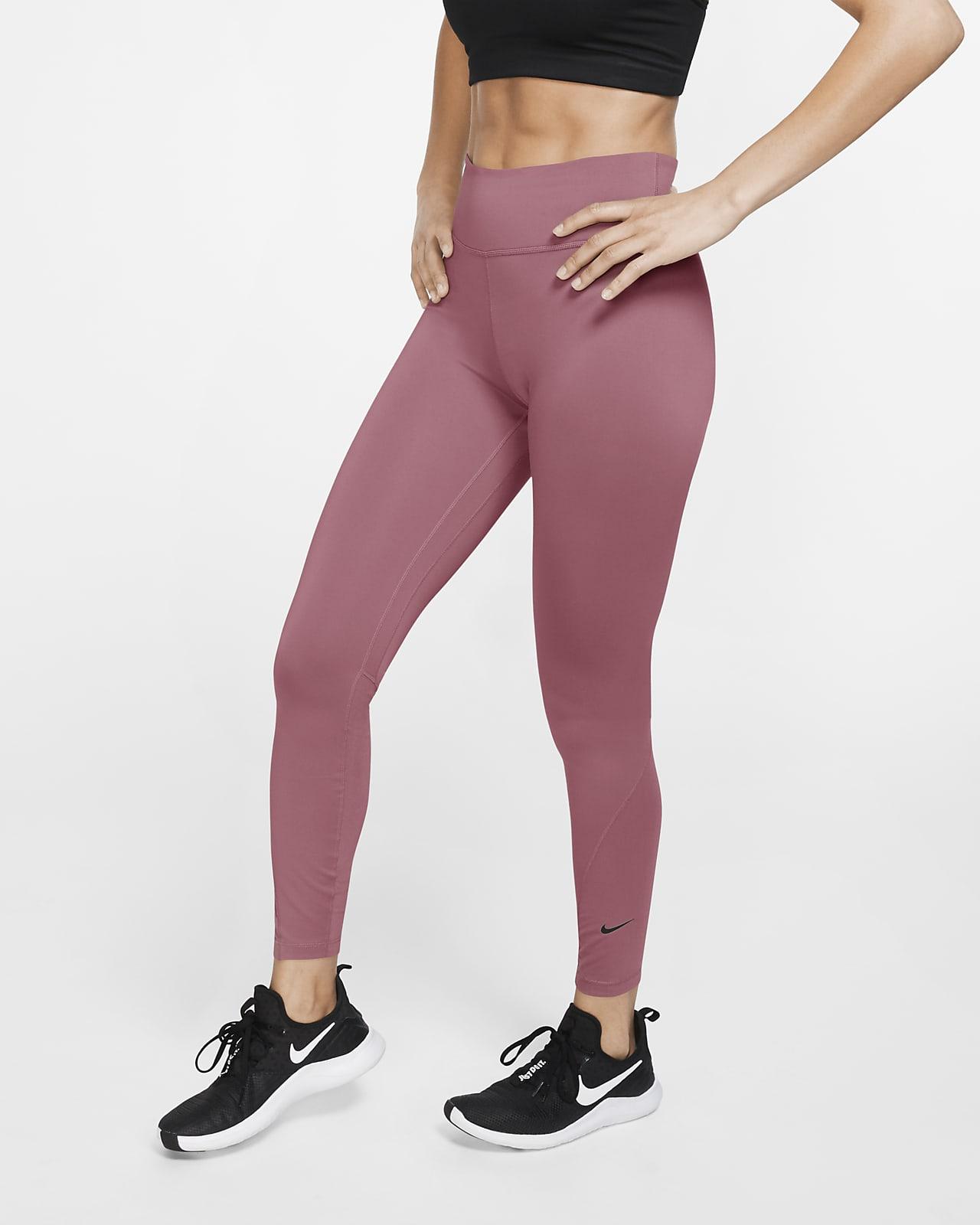 Nike One 7/8-tights med mellemhøj talje til kvinder