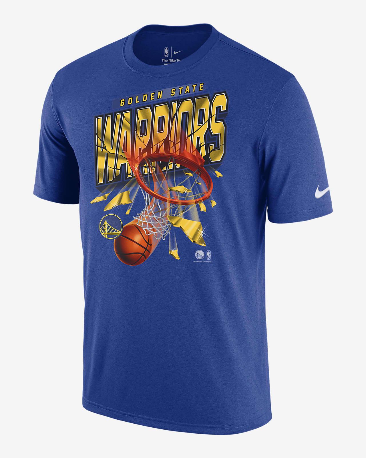 เสื้อยืด Nike NBA ผู้ชาย Golden State Warriors Courtside
