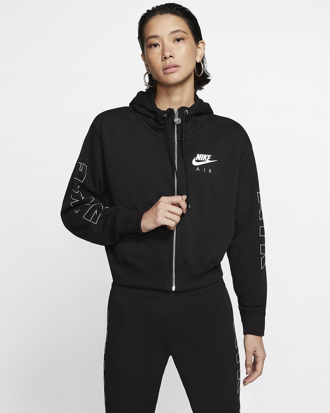 Nike Air hosszú cipzáras, kapucnis női polárpulóver