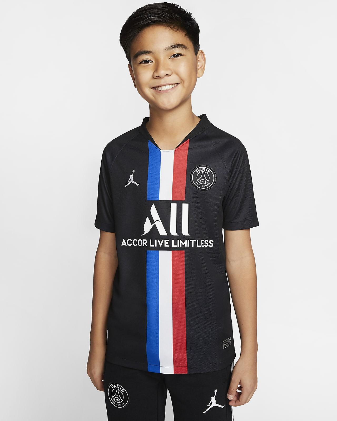 Jordan x Paris Saint-Germain 2019/20 Stadium Fourth Older Kids' Football Shirt