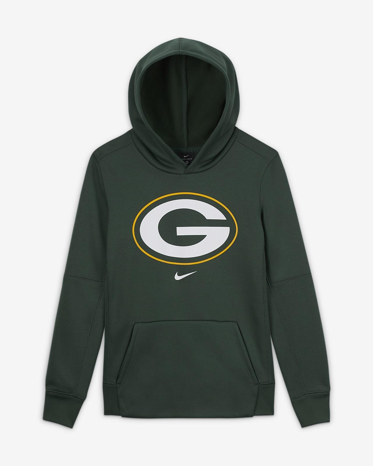 Nike Essential Green Bay Packers Older Kids' (Boys') Logo Hoodie
