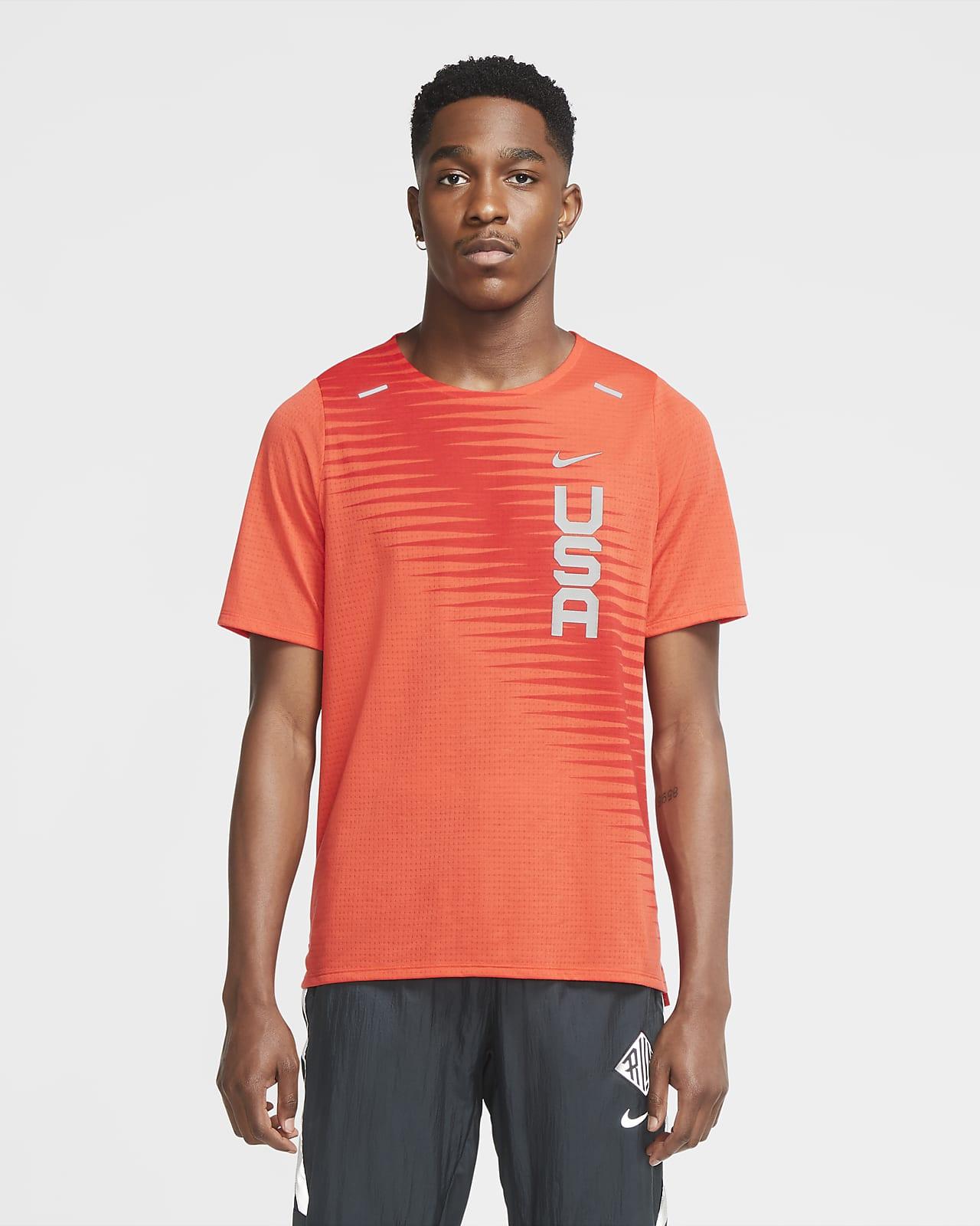 Nike Dri-FIT Team USA Rise 365 Men's Short-Sleeve Running Top