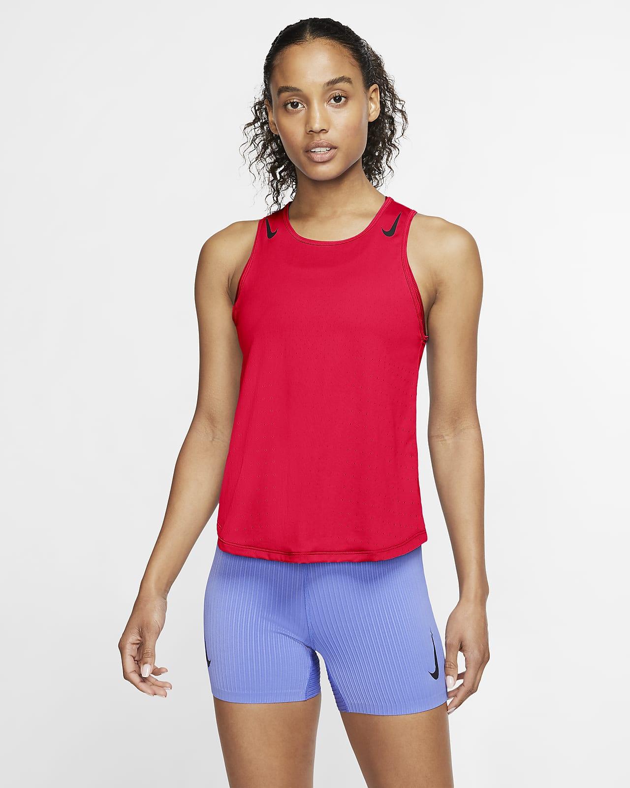Camisola de running sem mangas Nike AeroSwift para mulher