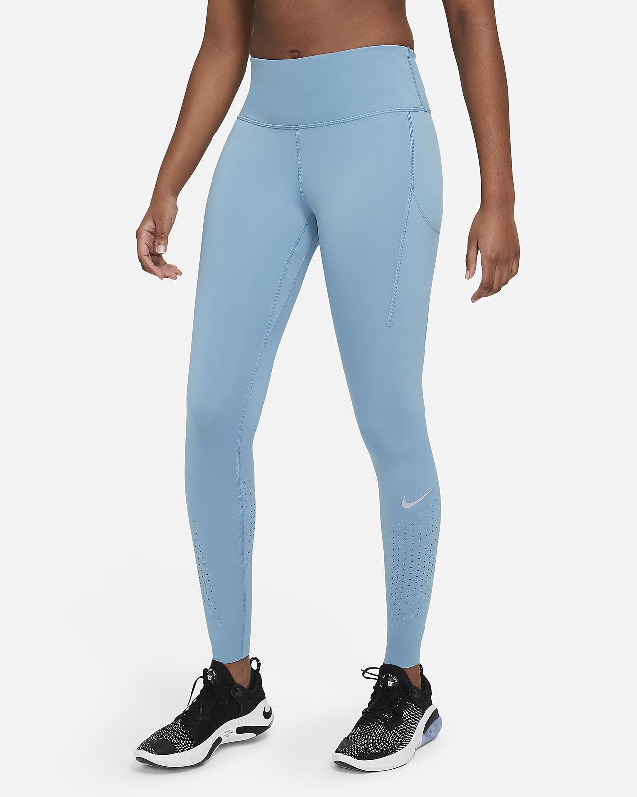 เลกกิ้งวิ่งเอวปานกลางผู้หญิง Nike Epic Luxe