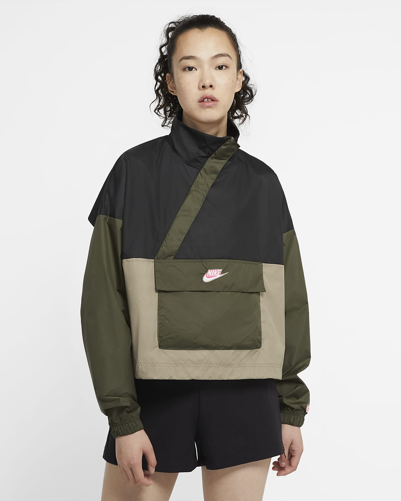 Anorak in tessuto Nike Sportswear Icon Clash - Donna