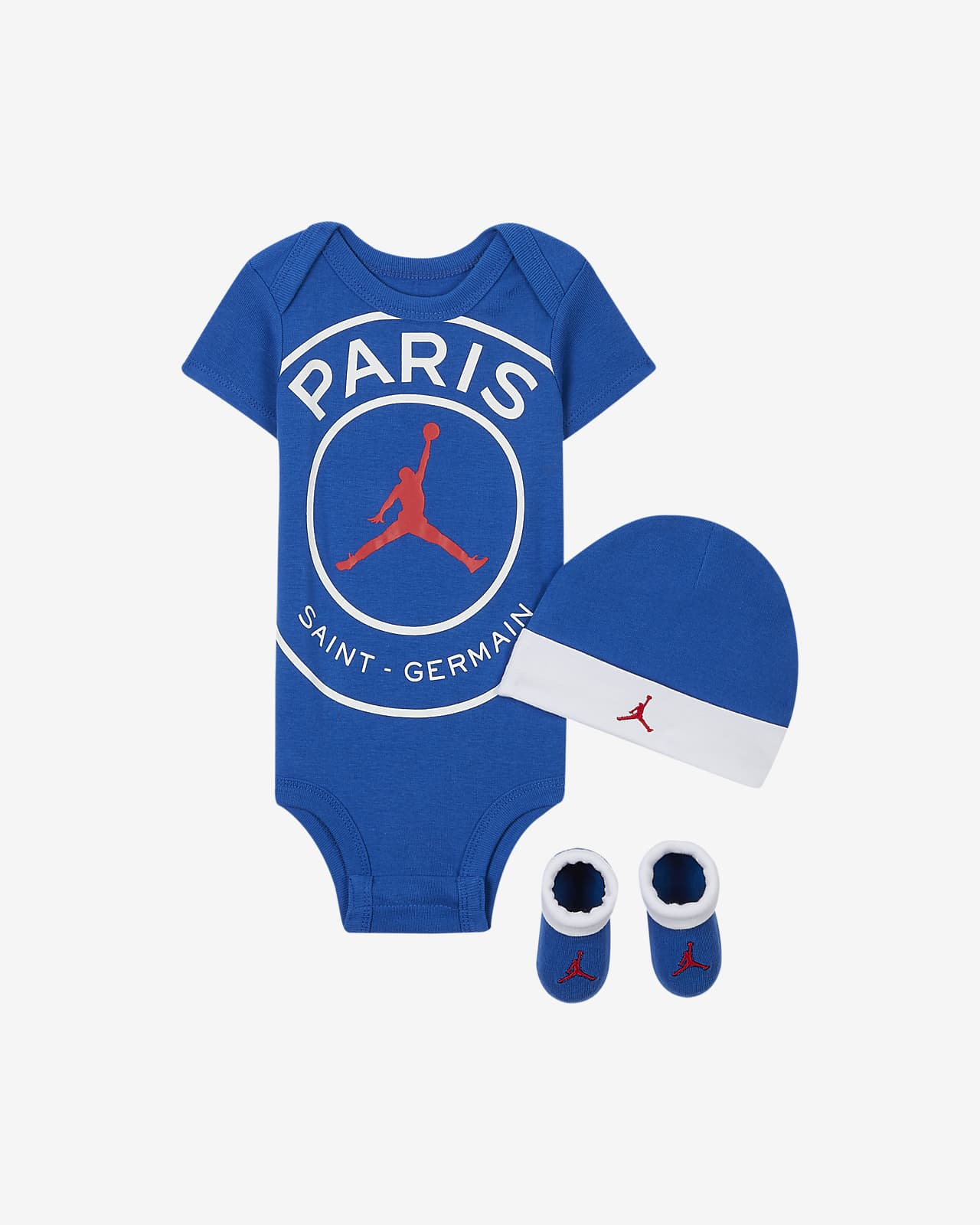 Paris Saint Germain Baby Bodysuit Beanie And Booties Set Nike Gb