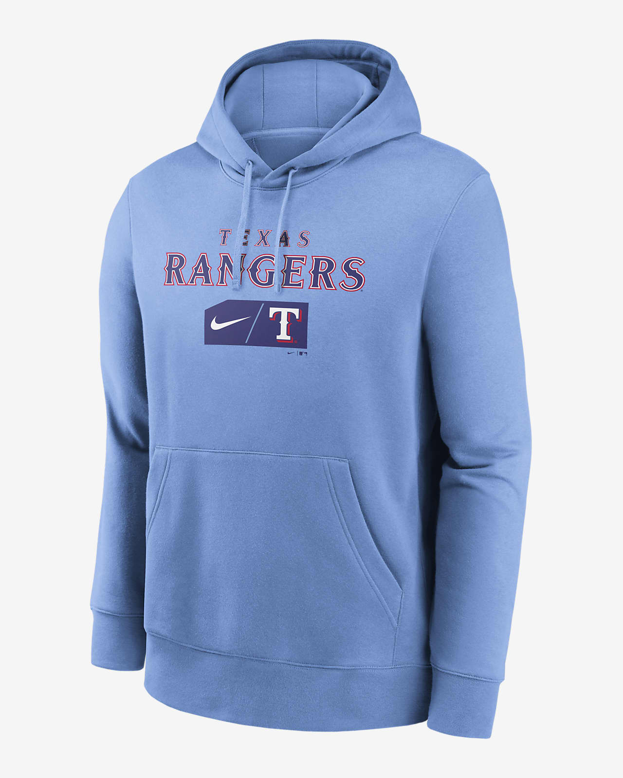 Nike Lettering Club (MLB Texas Rangers) Men's Pullover Hoodie