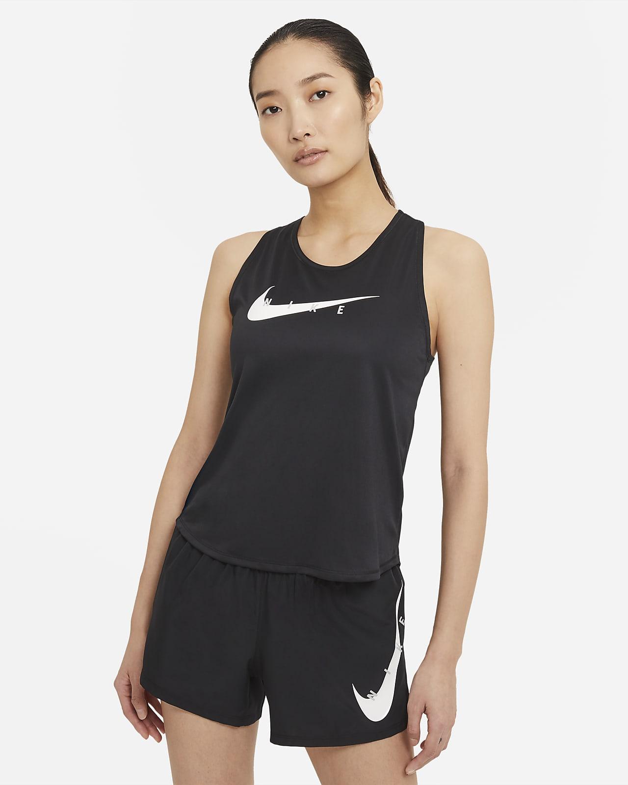เสื้อกล้ามวิ่งผู้หญิง Nike Swoosh Run