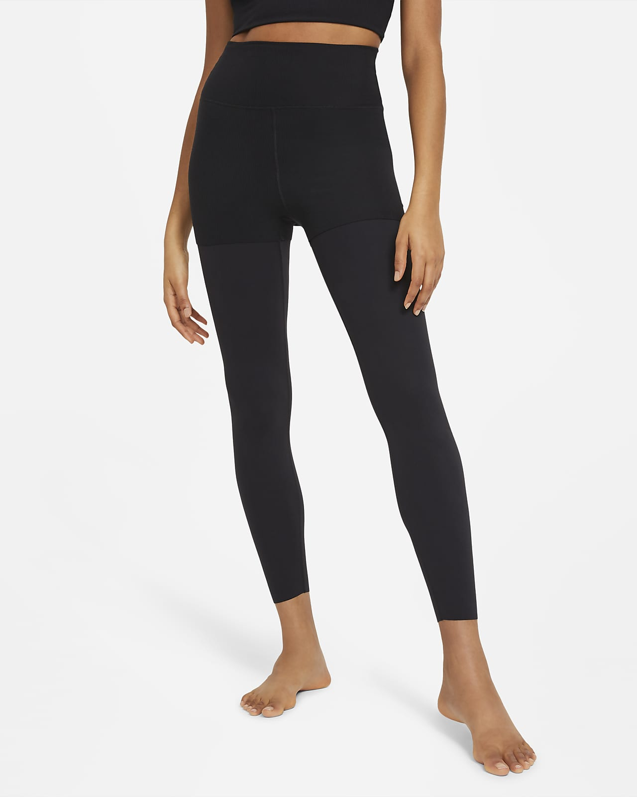 Nike Yoga Luxe Layered leggings i 7/8 lengde til dame
