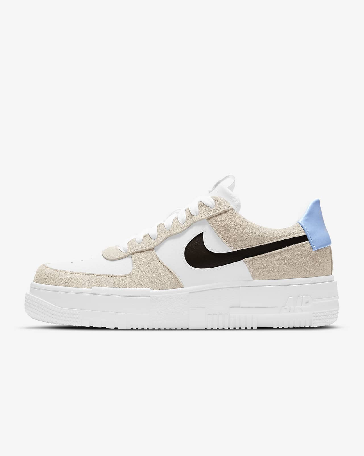 air force 1 donna bianche e beige