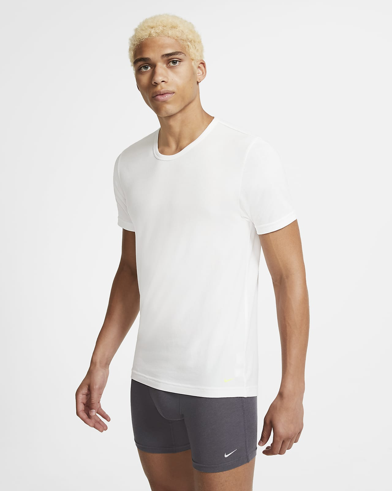 Nike Luxe Cotton Modal Men's Slim Fit Crew-Neck Undershirt (2-Pack)