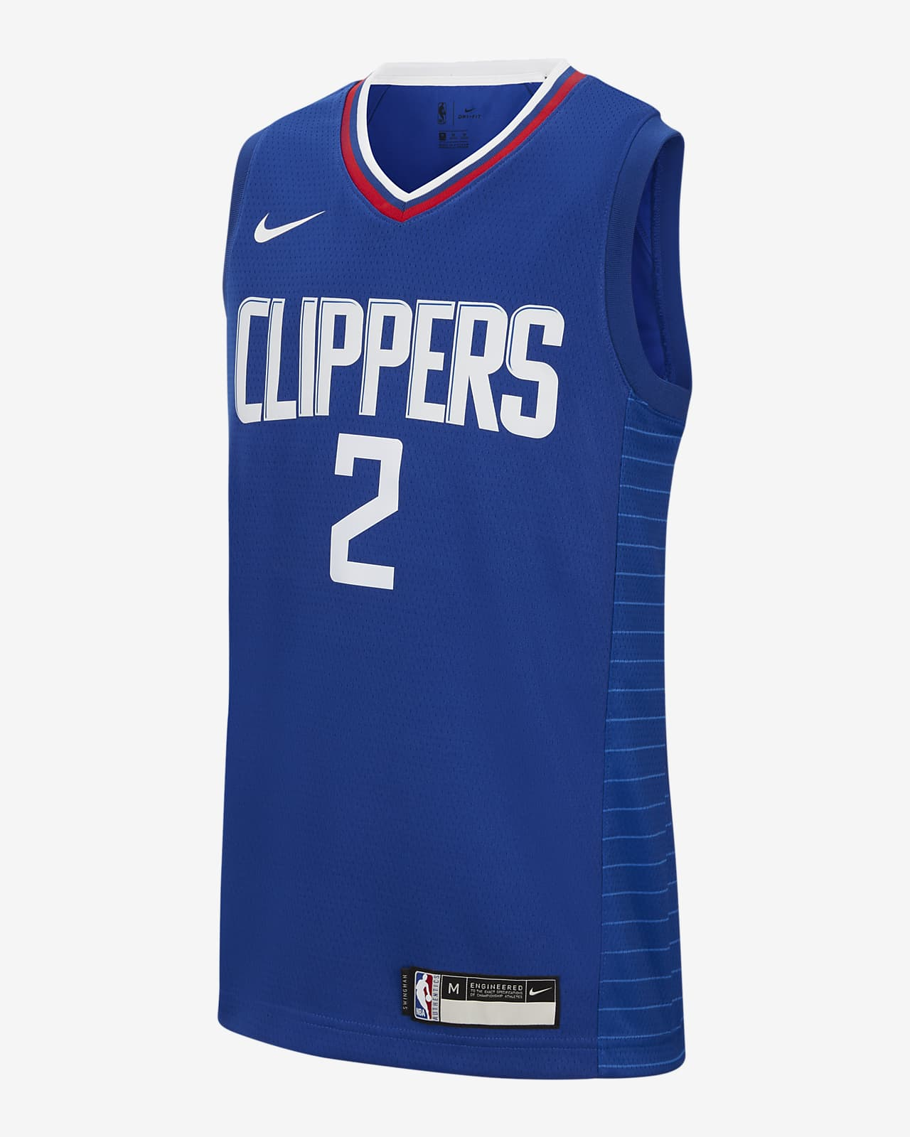 Kawhi Leonard Clippers Icon Edition Older Kids' Nike NBA Swingman Jersey