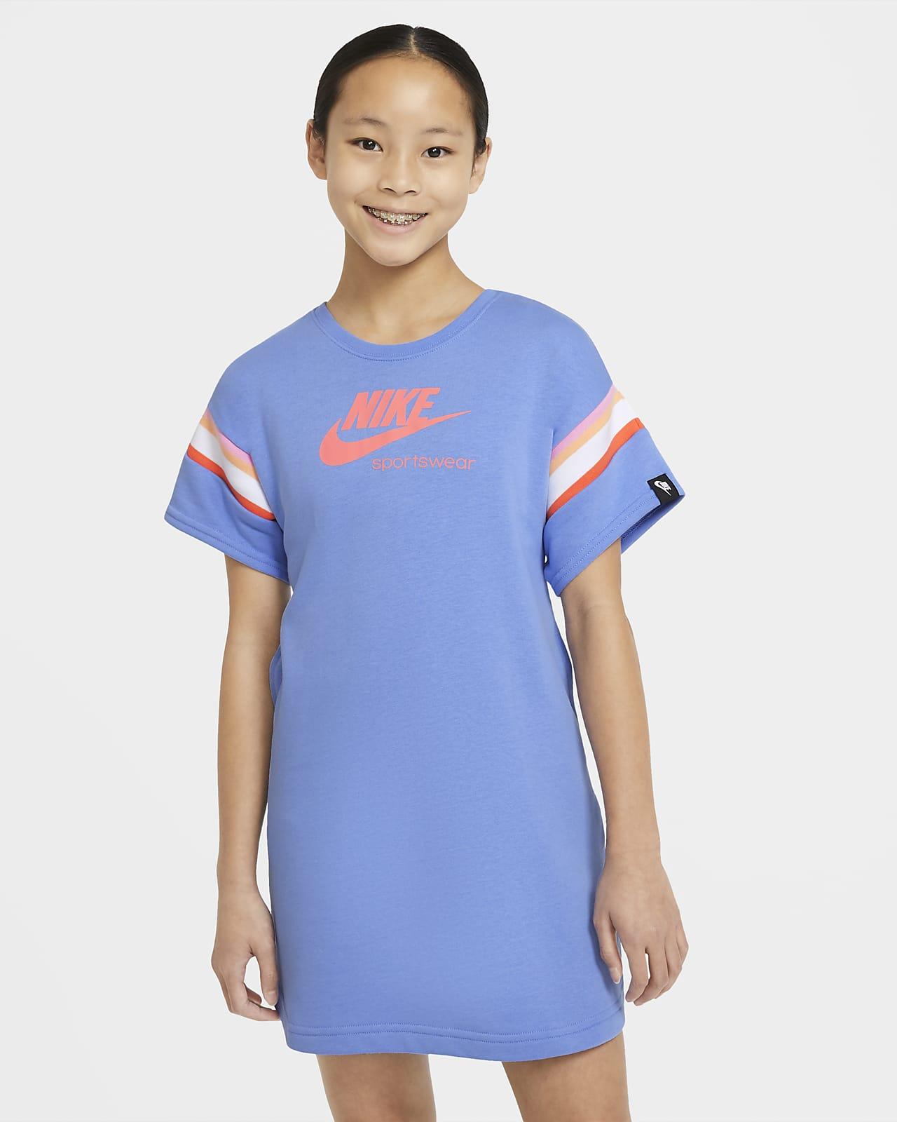 Nike Sportswear Heritage 大童(女孩)短袖连衣裙