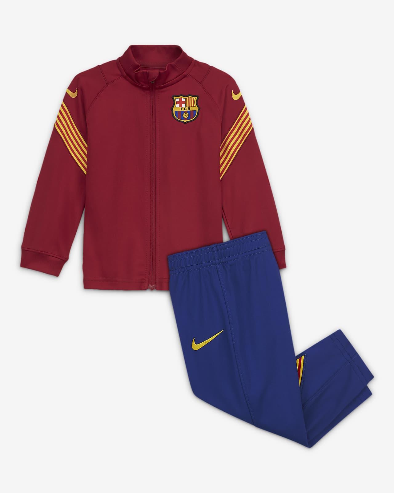F.C. Barcelona Strike Baby Knit Football Tracksuit