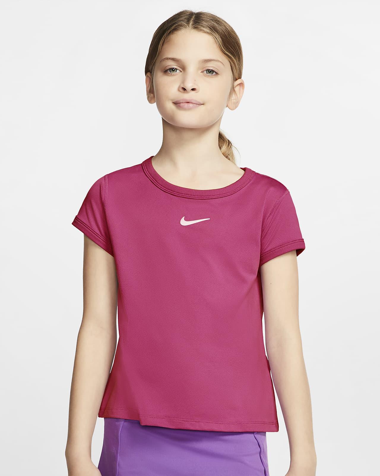 Haut de tennis NikeCourt Dri-FIT pour Fille