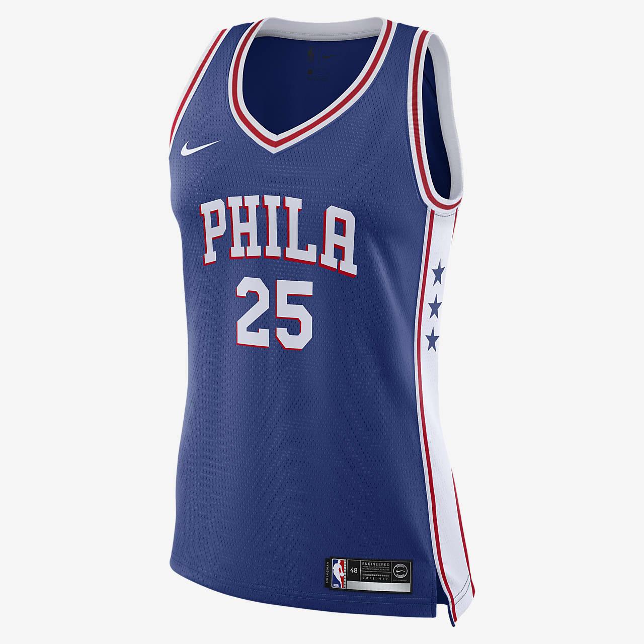 Ben Simmons 76ers Icon Edition Women's Nike NBA Swingman Jersey