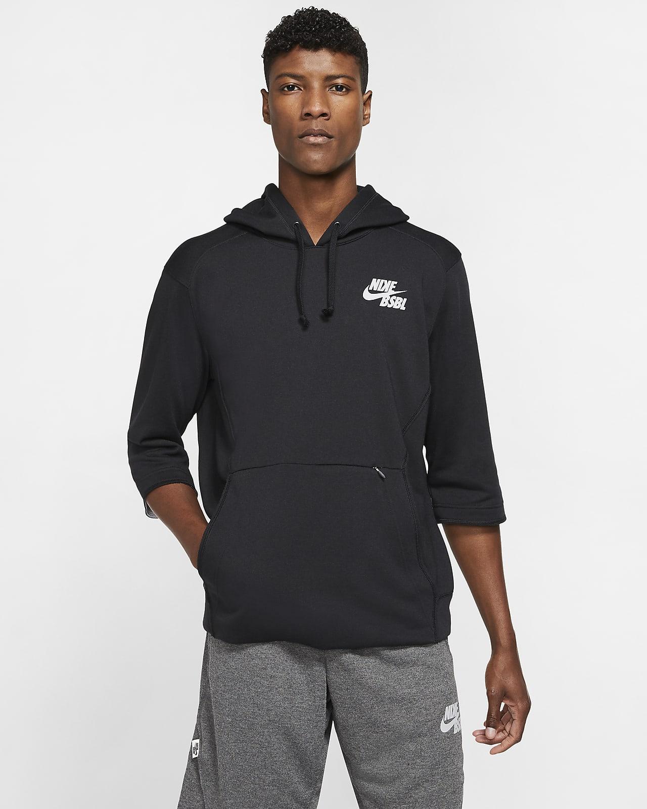 Nike Men's 3/4-Sleeve Baseball Pullover Hoodie