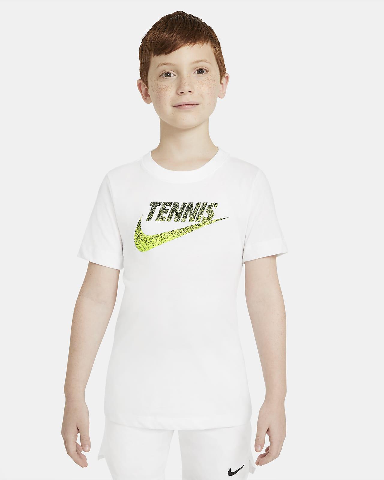 Playera de tenis con gráfico para niños talla grande NikeCourt