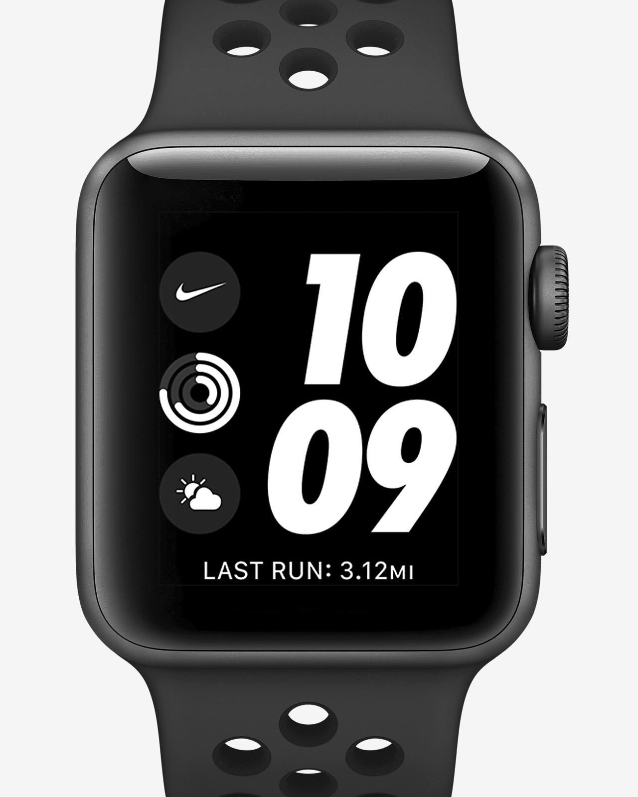 gene Subir Tranquilizar  Apple Watch Nike Series 3 (GPS) 38mm Running Watch. Nike.com