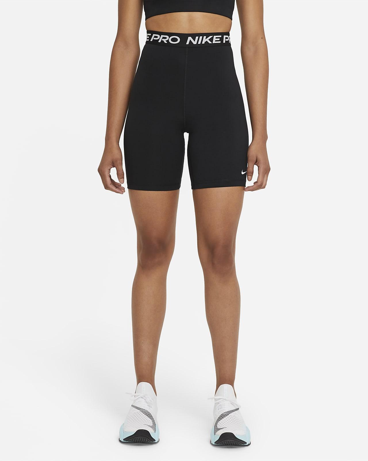 Shorts med hög midja Nike Pro 365 18 cm för kvinnor