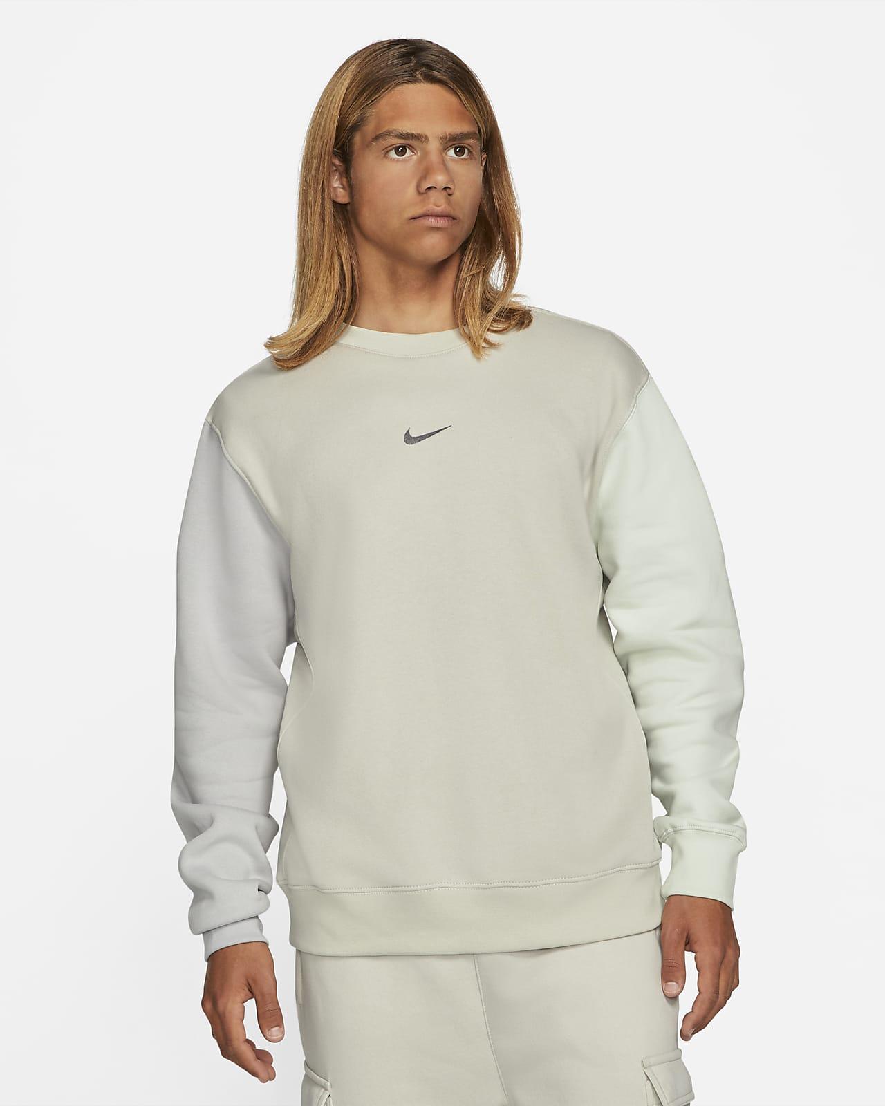 Fleecetröja med rund hals och Swoosh Nike Sportswear