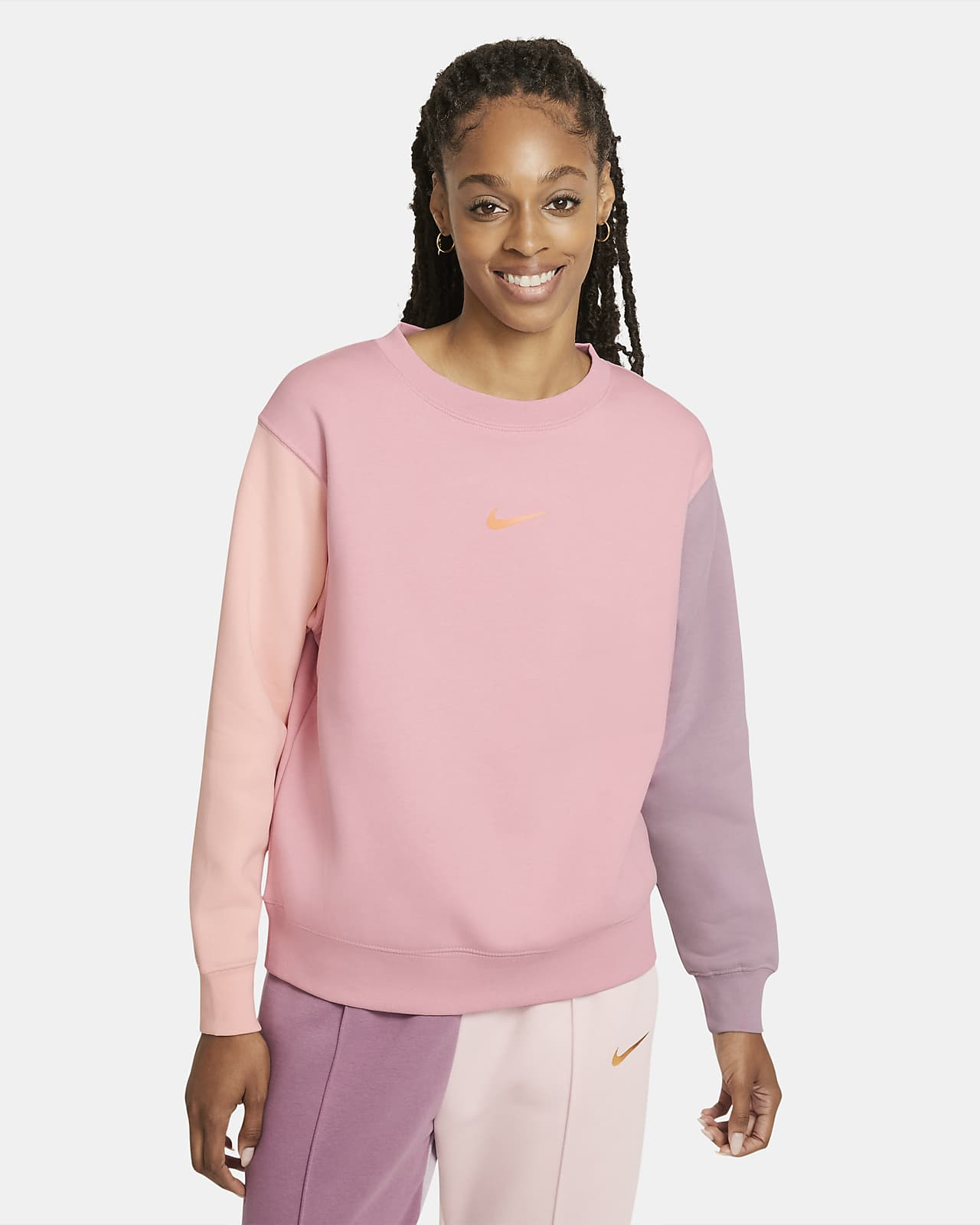 Nike Sportswear Swoosh-crewtrøje til kvinder