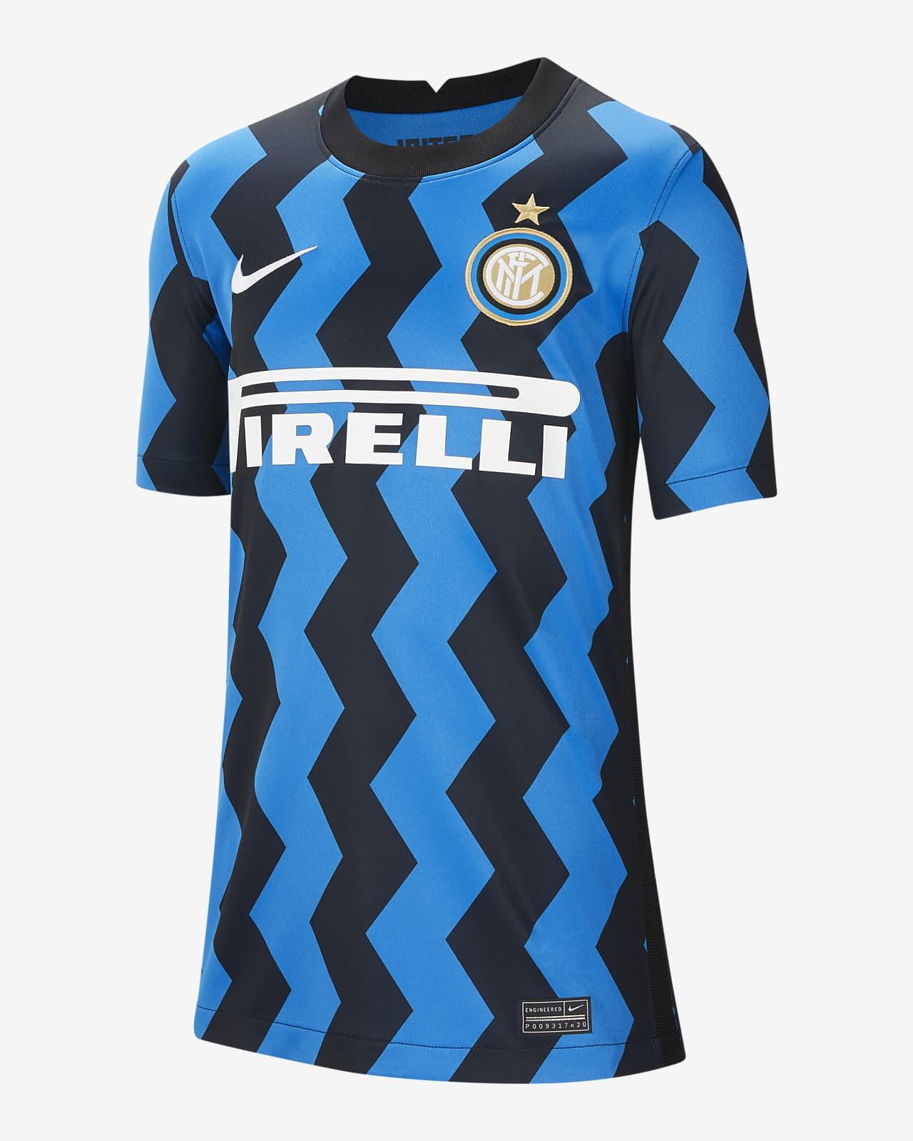 Inter Milan 2020/21 Stadium Home Older Kids' Football Shirt