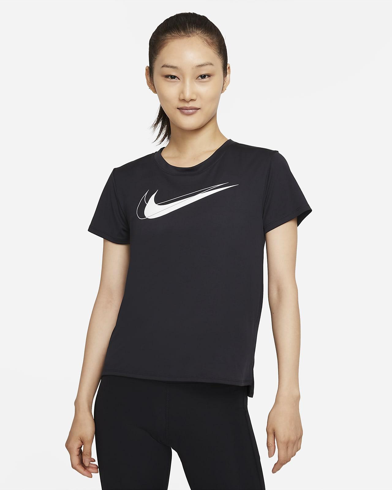 เสื้อวิ่งผู้หญิง Nike Dri-FIT Swoosh Run