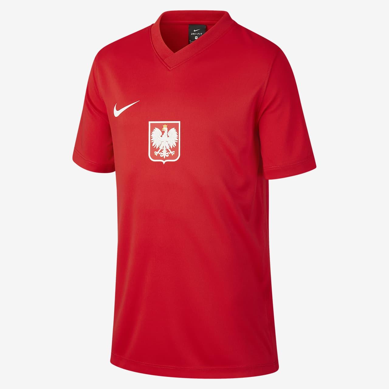 Lengyelország hazai/idegenbeli futballfelső nagyobb gyerekeknek