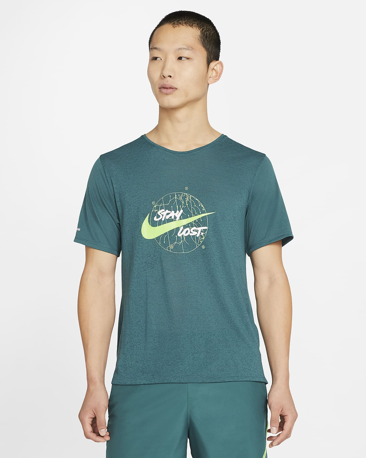 Nike Dri-FIT Miler Wild Run Men's Short-Sleeve Running Top