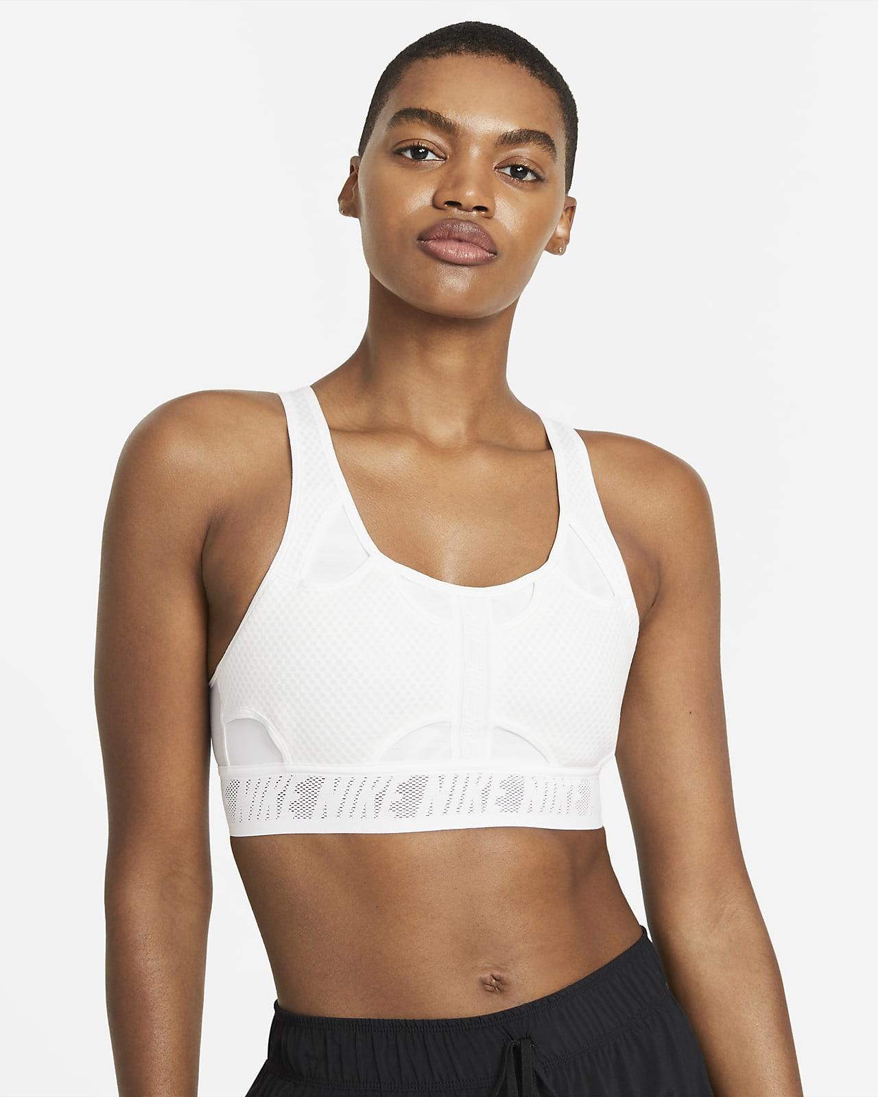 สปอร์ตบราผู้หญิงซัพพอร์ตระดับกลางเสริมฟองน้ำ Nike Swoosh UltraBreathe