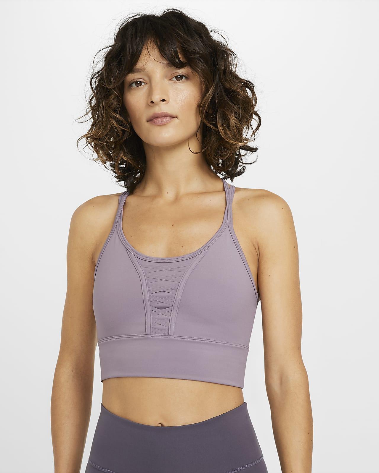 Nike Dri-FIT Korte trainingstanktop met veterdetail voor dames