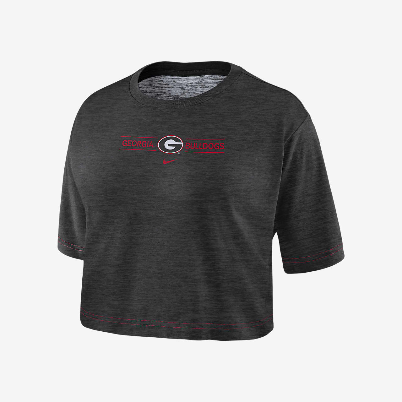 Nike College Dri-FIT (Georgia) Women's Cropped T-Shirt