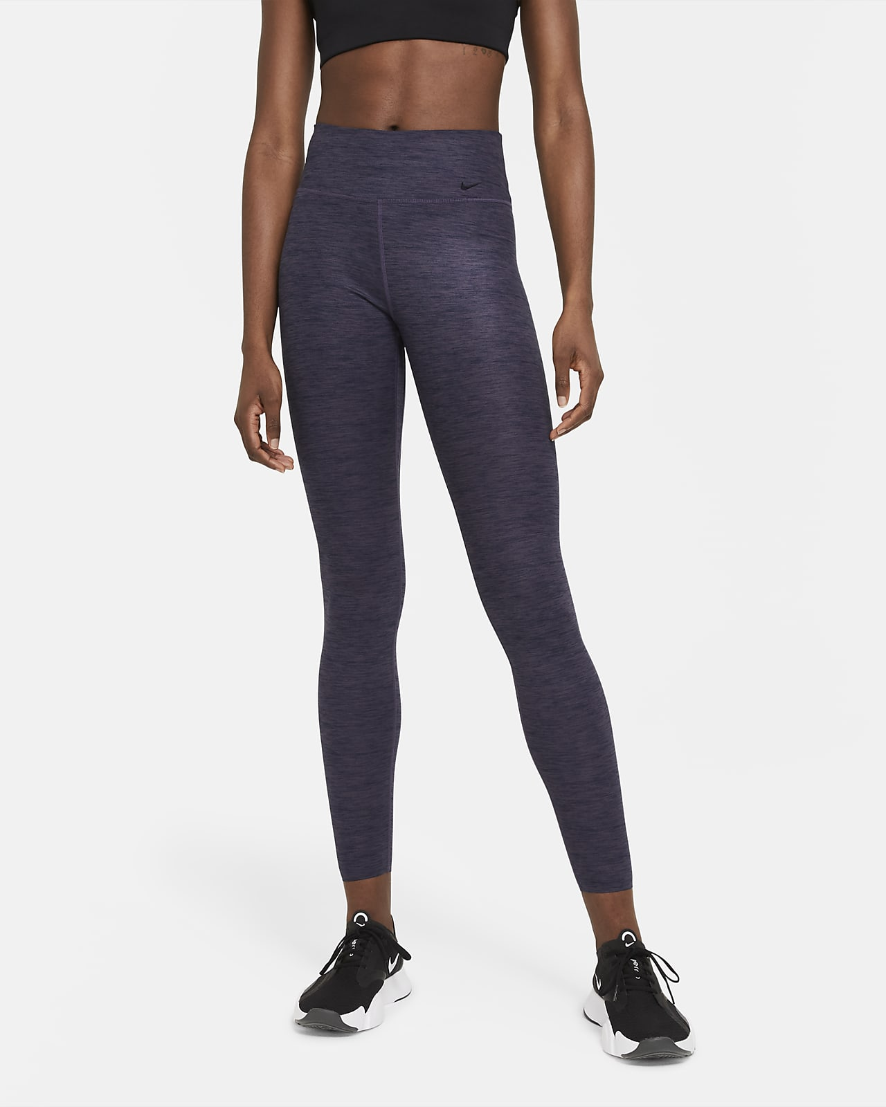 Tights mélange a vita media Nike One Luxe - Donna