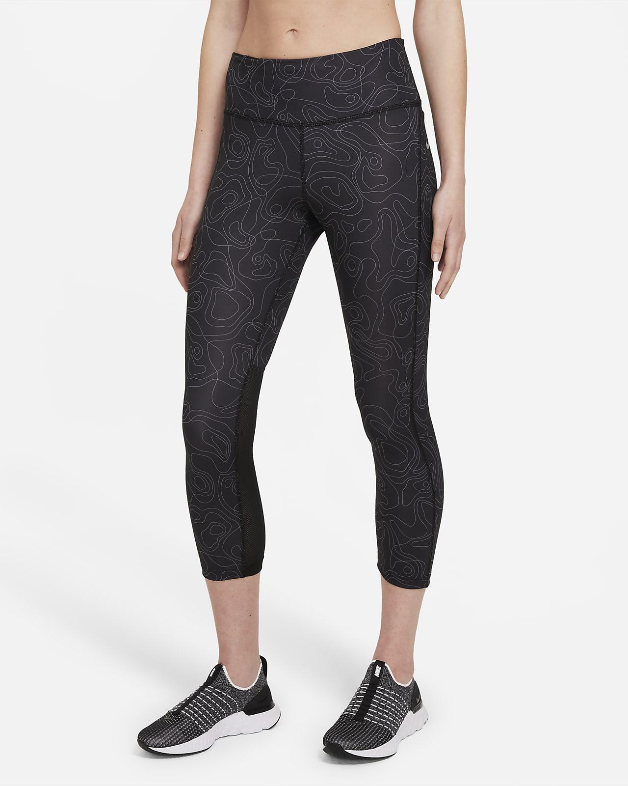 Leggings de running cortos de tiro medio para mujer Nike Fast Run Division