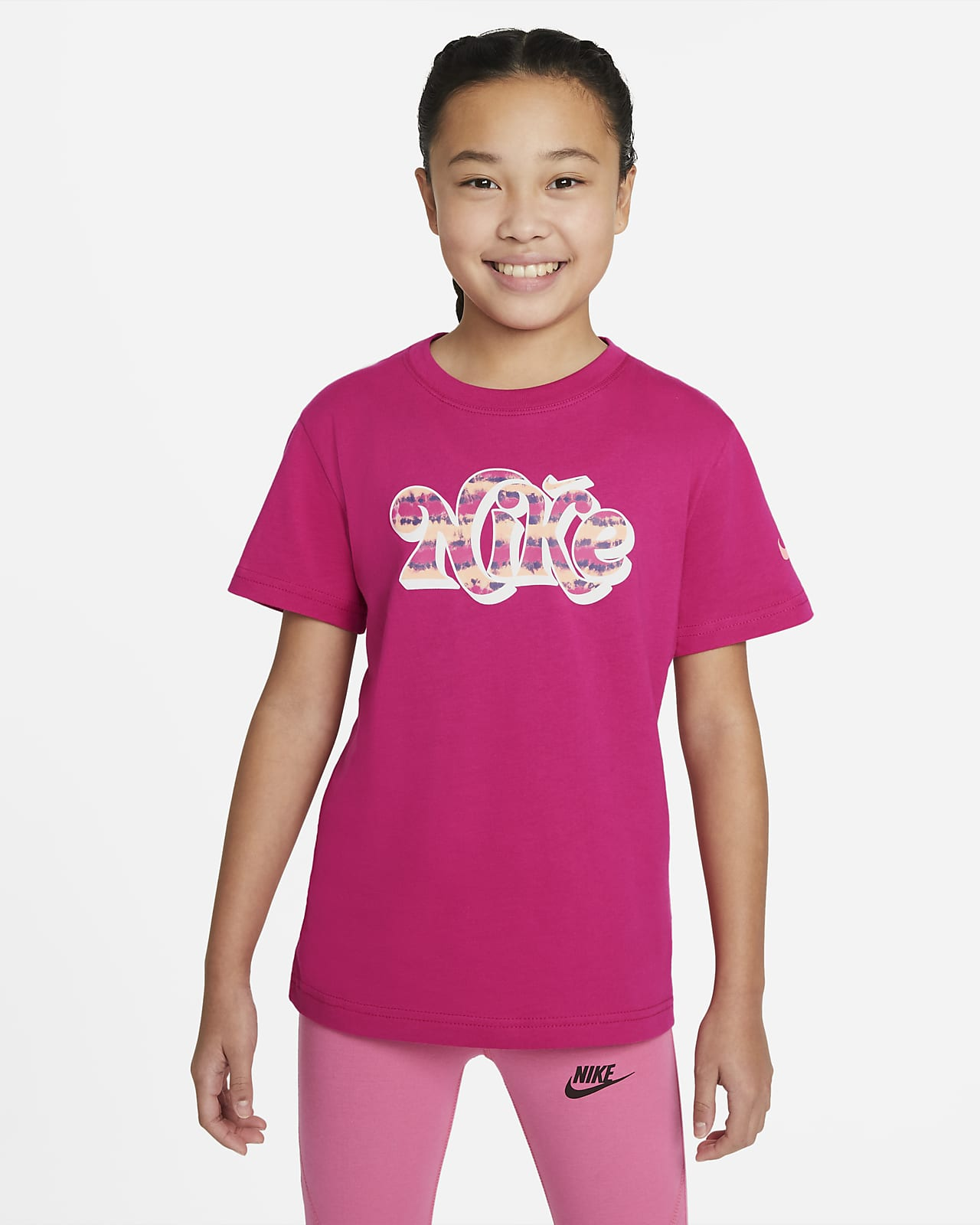 Nike Sportswear Essential Big Kids' (Girls') Tie-Dye T-Shirt