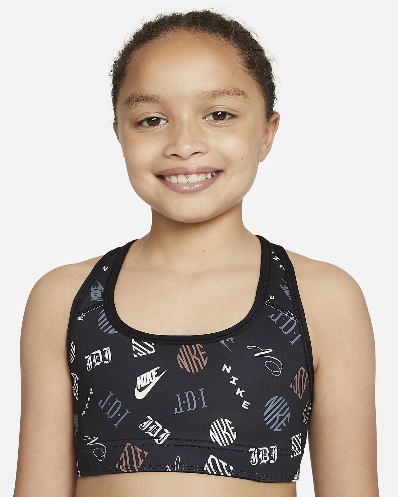 Nike Dri-FIT Swoosh 大童 (女童) 雙面運動內衣
