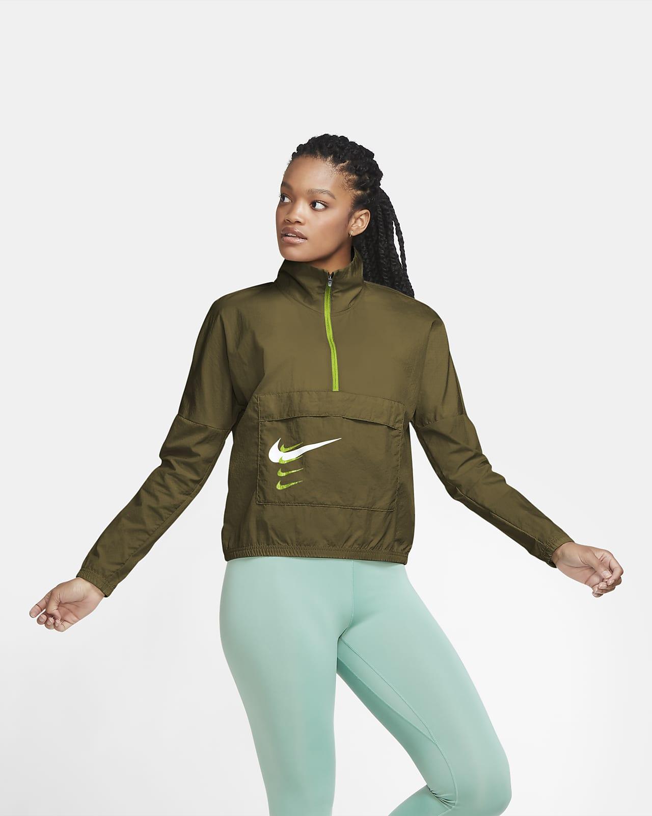 Nike Swoosh Run Pullover-Laufjacke für Damen