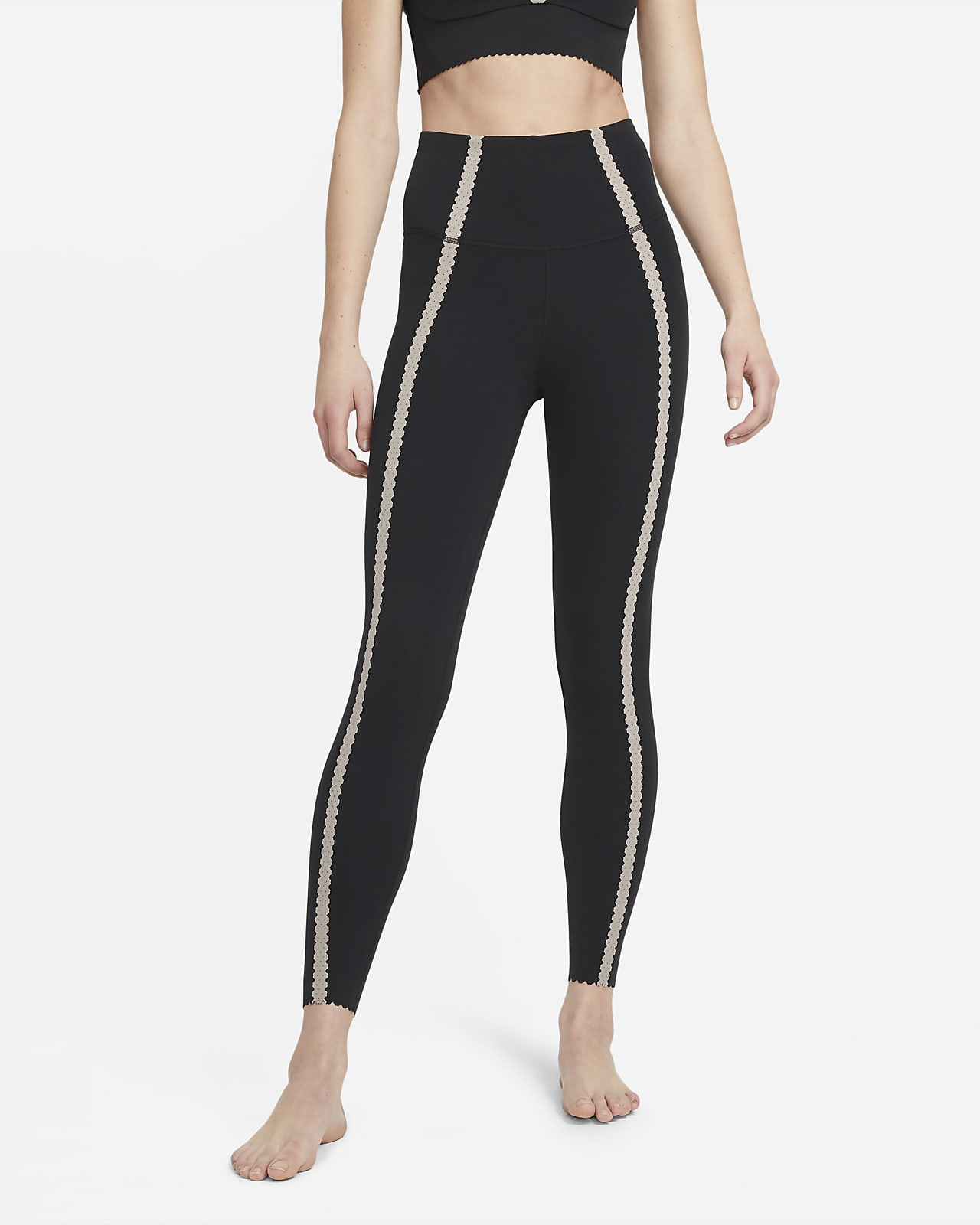 Dámské 7/8 legíny Nike Yoga Luxe svysokým pasem aočky
