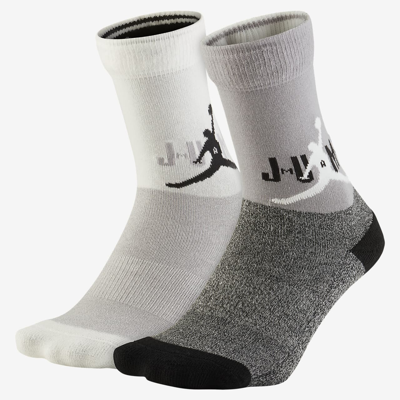 Jordan Older Kids' Cushioned Crew Socks (2 Pairs)
