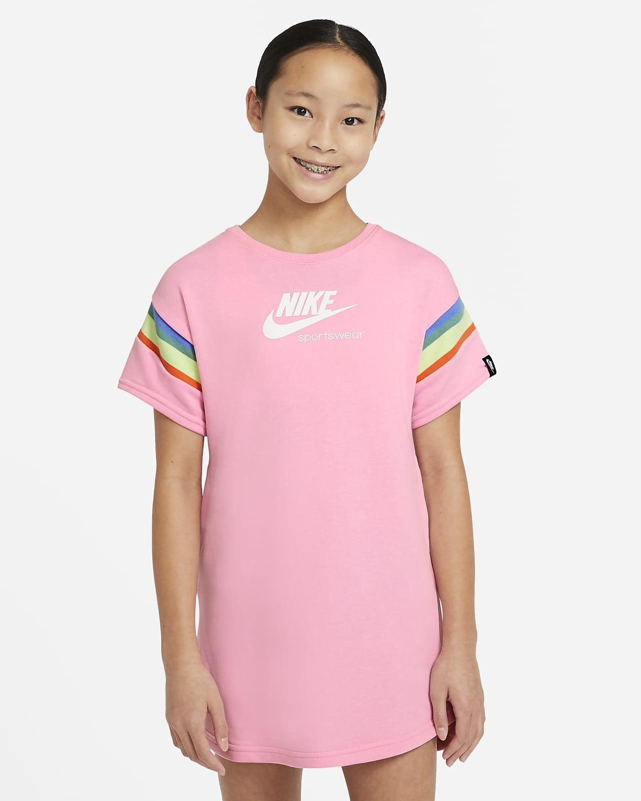 Nike Sportswear Heritage rövid ujjú ruha nagyobb gyerekeknek (lányoknak)