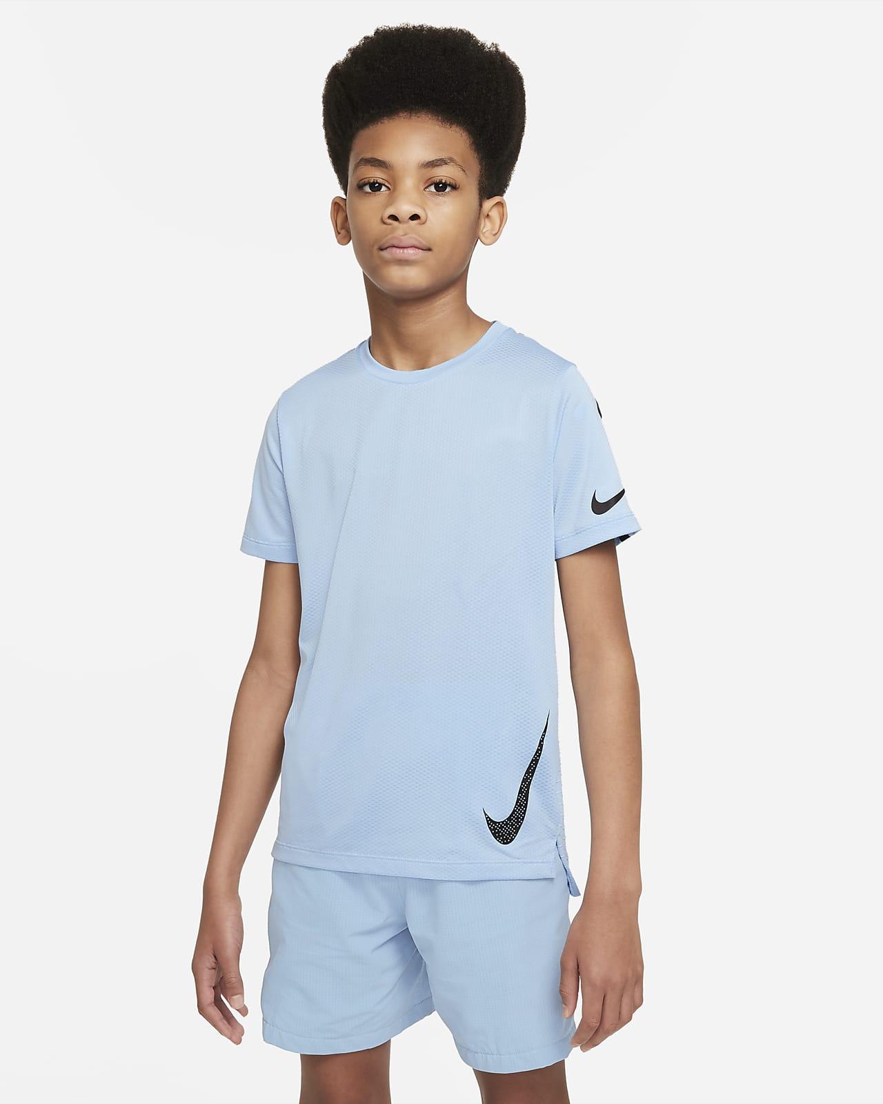 Nike Instacool Kısa Kollu Genç Çocuk (Erkek) Antrenman Üstü