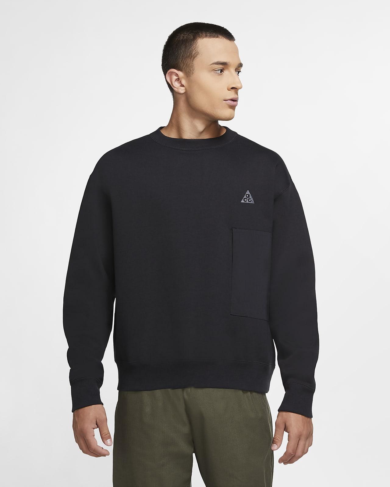เสื้อวอร์มคอกลมผ้าฟลีซผู้ชาย Nike ACG